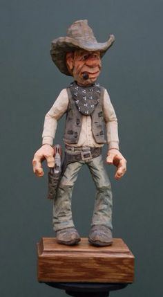 Cowboy, carved by Myron Compton