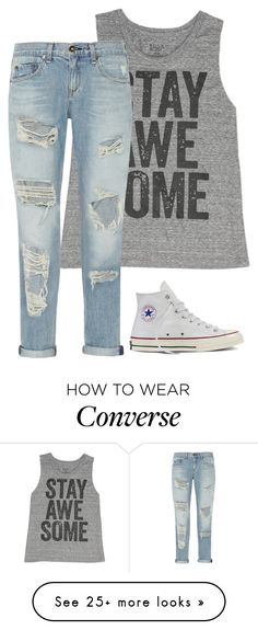 """Simple"" by captianoats on Polyvore featuring Billabong, rag & bone and Converse"