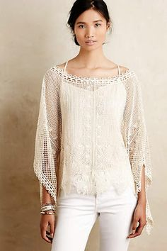 Love this top!!! (Of course, because it's cream...my fav color to dress in!) ;)