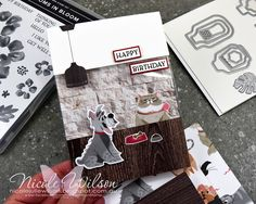 Nicole Wilson Independent Stampin' Up!® Demonstrator - ESAD Annual Catalogue Blog hop with Pampered Pets #stampinup #pamperedpets #playfulpets #happybirthday #cat #dog #catanddogcard #bohoindigo #nicolewilson #ESAD #ingoodtaste #animalcard #pamperedpetsbundle Happy Birthday Nicole, Dog Cards, Stampin Up Catalog, Animal Cards, Crazy Dog, Stamping Up, Tim Holtz, Cardmaking, Birthday Cards
