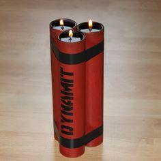DIY Dynamite Candle Holder