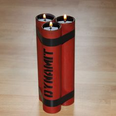 DIY Dynamite Candle Holder