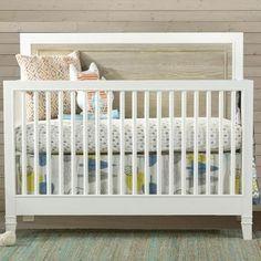 #myRoom Convertible Crib in Parchment and Gray   Nebraska Furniture Mart