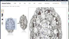 10k - White Gold - Diamond - Flower Earrings