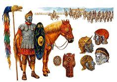 """Roman auxiliary cavalryman - Hippika gymnasia"""