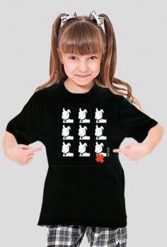 TShirt Pies Max 3x3 B/W (Dziewczynka) Czarna