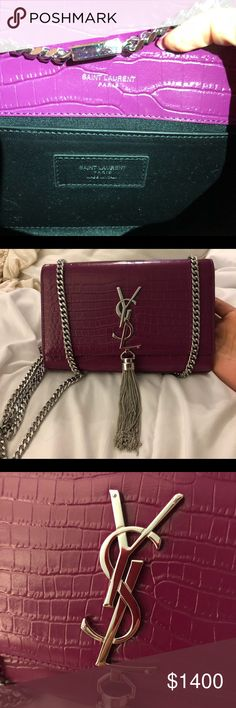 💋💋AUTHENTIC YSL KATE TASSEL IN FUSCIA💋💋 My absolute favorite color ever! a7d465ba701a4