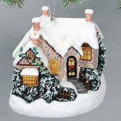 Thomas Kinkade Christmas Moonlight Ornament