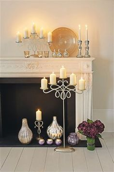 Floor Standing Candelabra This would be soooo adorable with mini stocking hung on for Christmas Easter Table, Easter Decor, Hall Flooring, Room Accessories, Interior Design Tips, Next At Home, Candelabra, Candle Sconces, Furniture Decor
