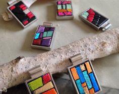 Modern Geometric Wearable Mosaic Art Pendant Jewelry Summer Fun Mosaic Jewelry