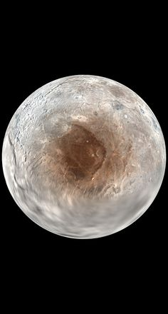 Pluto's moon, Charon's north pole. Image via New Horizons/NASA