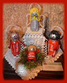 Belen Coca Cola. Exposicion nativity en  Arenas , Avila 055 Christmas Deco, Christmas Crafts, Christmas Tree, Diy And Crafts, Crafts For Kids, Coca Cola, Winter Snow, School Projects, Recycling