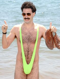 Borat, the man in yellow Funny Images, Funny Pictures, Sacha Baron Cohen, Adam Sandler, Famous Movies, The Bikini, Funny Fails, Funny People, Angels And Demons