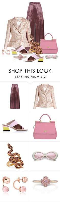 """Double Breasted Jacket"" by jakenpink ❤ liked on Polyvore featuring Temperley London, Osman, Abcense, Dolce&Gabbana, Diego Percossi Papi and Rebecca"