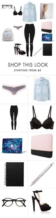 """Untitled #60"" by reka15 on Polyvore featuring Charlotte Russe, Visvim, Topshop, Calvin Klein Underwear, Kate Spade, Pentel, Christian Louboutin and New Look"