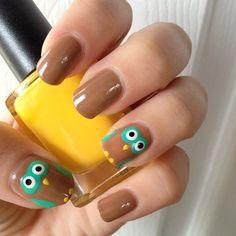 #owl nails