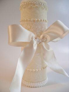 Lovely Lace Unity Candle handmade via Etsy seller #wedding