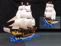 69 Lego Old Ships Ideas – How to build it Lego Age, Lego Boat, Big Sea, Lego Ship, Thanos Marvel, Lego Models, Cool Lego, Royal Navy, Cgi