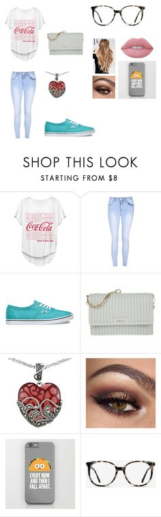 """""""Going To A Concert"""" by jasmin198 ❤ liked on Polyvore featuring Fifth Sun, Glamorous, Vans, DKNY, Lord & Taylor, Ace and Lime Crime"""
