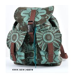 Kwik Sew backpack pattern