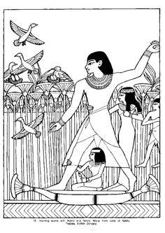 Ancient Egypt 17 - Coloring Pages Ancient Egypt For Kids, Ancient Egyptian Art, Ancient History, Art History, Egyptian Crafts, Egyptian Party, Adult Coloring Pages, Coloring Books, Afrique Art