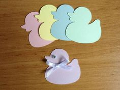 20 Cute Pastel baby Duck die cuts for cards by Craftycards82, £2.25