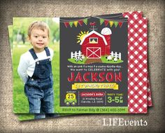 Farm Invitations Old McDonald Invitations Farm by LIFEvents, $12.00