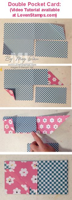 """Double Pocket Card """"how to"""" - Video Tutorial available from LovenStamps"""
