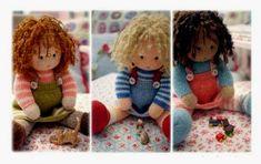 Вязаные спицами куклы. Три подружки. Описание