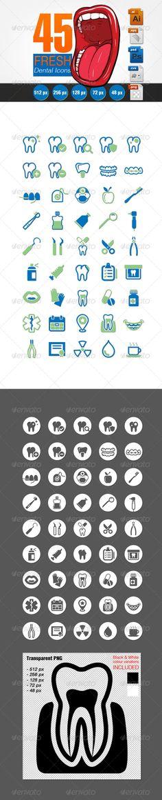 Fresh Dental Icons Set  | Buy and Download: http://graphicriver.net/item/fresh-dental-icons-set/6669369?WT.ac=category_thumb&WT.z_author=balazsrenata&ref=ksioks