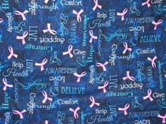 Breast Cancer Awareness Pink Ribbons with Words of by Allicanfind