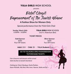 YULA GIRLS FASHION SHOW Girl Fashion, Fashion Show, Vip Tickets, Choir, High School, Girls, Women, Feminine Fashion, Toddler Girls