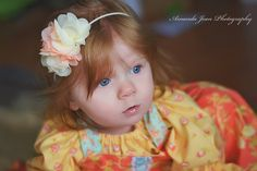 "Beautiful ""Heavenly Love"" cream and white chiffon lace trim flower headband - pinned by pin4etsy.com"