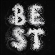 Russian designer Ruslan Khasanov plays with ink, paper and other materials to create incredible typographic pieces. More typography via Behance Visit his website Calligraphy Logo, Lettering, Typography Letters, Typography Poster, Creative Typography, Graphic Design Typography, Experimental Type, Typographie Inspiration, Architecture Old
