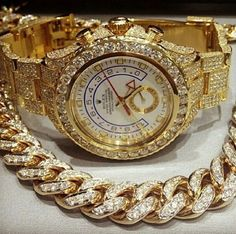 Mens Fully Iced Out Lab Diamond Rolex Yatchmaster 2 II Gold Lab Diamond Watch $2,100 via @shopseen - Turn around your jewelry buying experience! Description from pinterest.com. I searched for this on bing.com/images