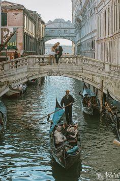 On the bridge of love.