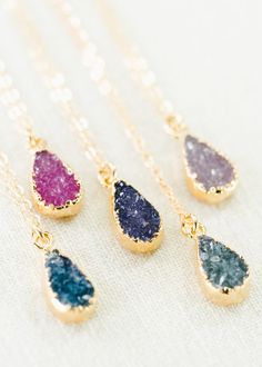 Ipolani necklace gold druzy pendant necklace by kealohajewelry https://www.etsy.com/listing/194974279
