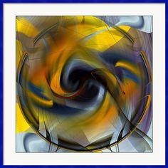 Rd Erickson Framed Print featuring the digital art Broken Shield 1 - Abstract by rd Erickson