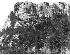 Mt Rushmore before the carvings (1905)