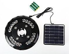 Patio 24 LED Solar Umbrella Light (Solar Panel And 3AA Rechargeable Batteries Included) for Patio Umbrellas, Camping Tents, Outdoor Use