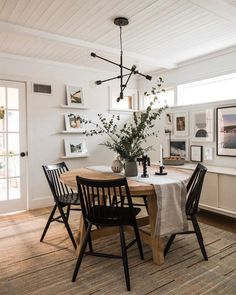 Black and White Dining Room — west elm – Dining Room Ideas – Farmhouse Dining Room Interior Decorating, Interior Design, Decorating Ideas, Decor Ideas, Room Interior, Room Ideas, White House Interior, Bar Ideas, Dining Room Inspiration