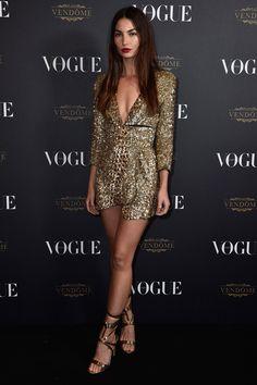 Lily Aldridge attends the Vohur París Party