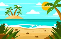 Beach Holidays Background Back Ground Beach Holiday Beach Beach Background, Cartoon Background, Animation Background, Wallpaper Doodle, Watercolor Wallpaper, Rainbow Cartoon, Cartoon Unicorn, Beach Cartoon, Night Illustration