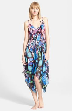 Jean Paul Gaultier Butterfly Print Tulle Cover-Up Dress available at #Nordstrom