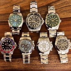 Rolex Milgauss Sea-Dweller GMT Master II Daytona. All belonging to my great friend @krono23 Which is your favourite? by mr.chrono