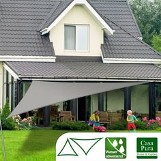 Wasserdichte sturmfeste aufrollbare sonnensegel garten for Gartengestaltung dreieck