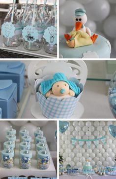 Sweet Little Boy Baby Shower Party Stork Showers