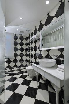 Keramik Fliesen Für Badezimmer Dusche Bereich Schwarz Weiß Schachbrett