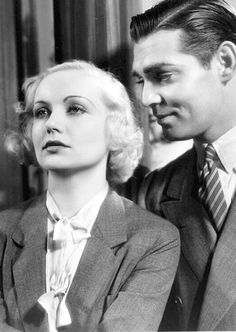 """Carole Lombard and Clark Gable in """"No Man of Her Own"""" (1932)"""