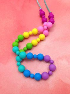 Silicone Teething Necklace Nursing by LittleLemonTreasures on Etsy